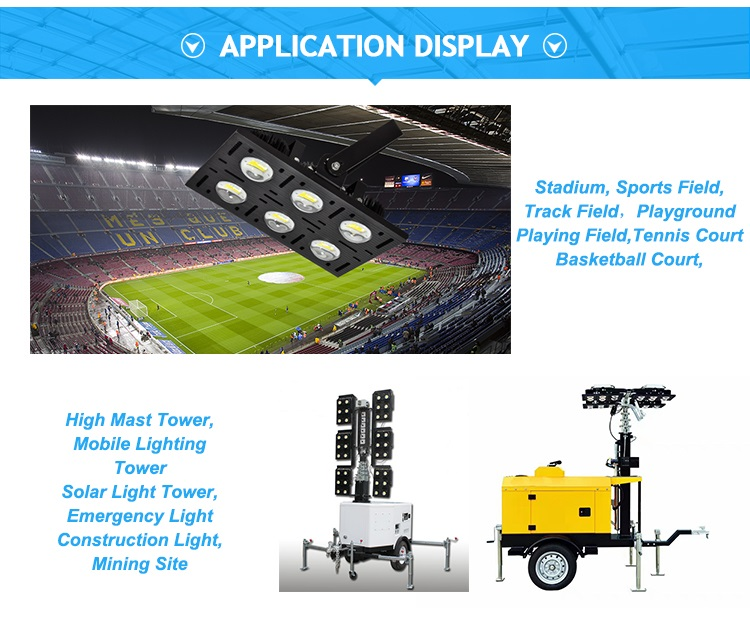 CE CSA Approved Provide to Australia Market 500W Mobile Lighting Tower LED Flood Light