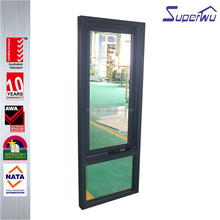 Australia as2047 standard black color aluminium awning windows with Australia brand doric hardware