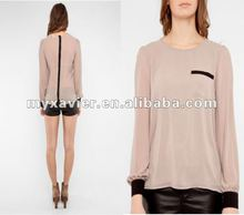 ladies tops latest design womens clothing chiffon blouses designs 2013 10031