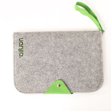 Alibaba wholesale custom grey felt men's business laptop computer bag with free sample
