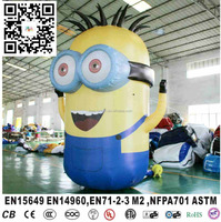 2016 Good quality inflatable cartoon Minon,yellow helium model typle for sale,i,minion mascot costume