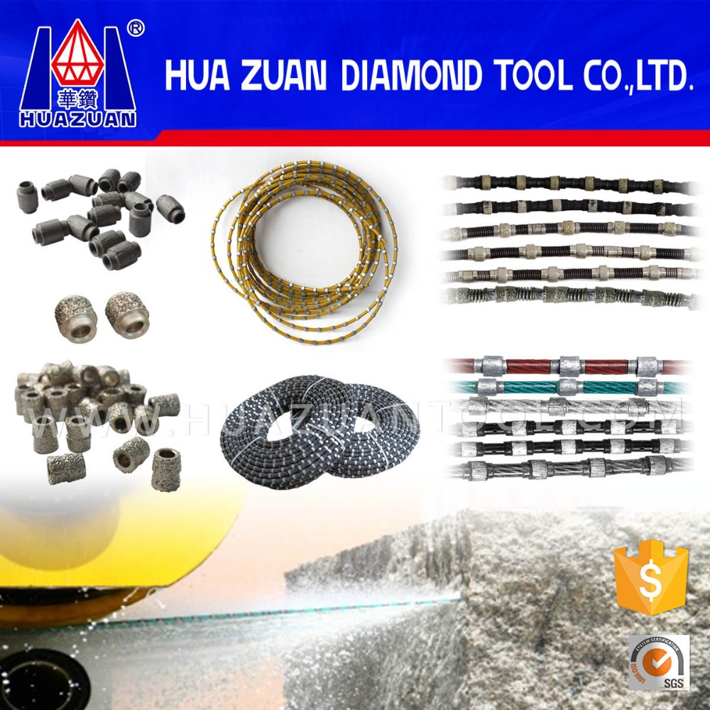 High cutting ability stone wire saw diamond wire for sale