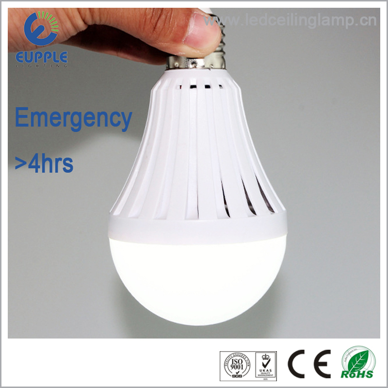 Best sales!3w 5w 6w 7w 9w 12w 18w rechargeable E27 emergency led bulb, good quality emergency led bulb