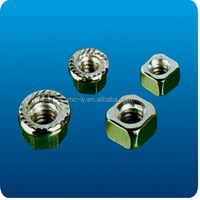 Zinc or Chromiun-plated Din6923 hex flange nut sleeve anchor with factory price