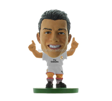 Custom pvc soccer figure,OEM plastic miniature soccer player figure,Lifelike 3D soccer player action figure