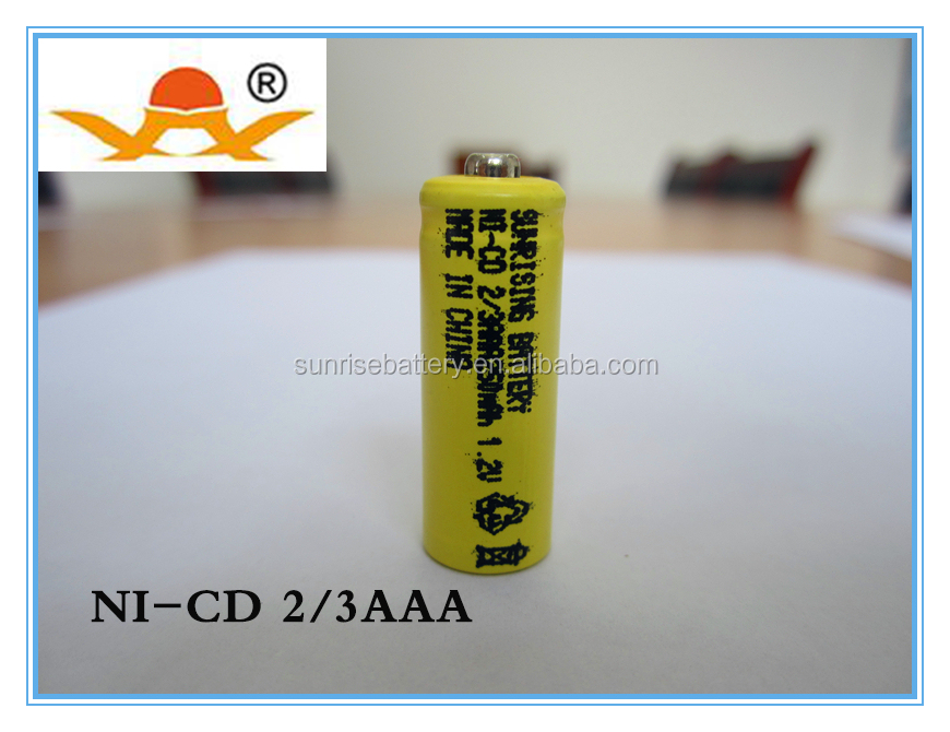 1.2v ni-cd 2/3 aaa 250 mah rechargeable battery