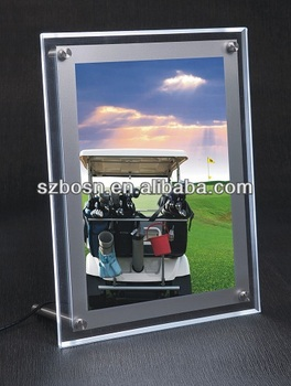 Tabletop Acrylic Photo Frame with Light