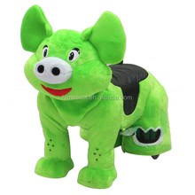 HI hot sale kids plush motorized coin operated animals scooters