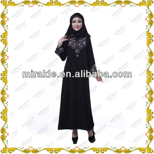 MF21389 new design long sleeve muslim evening dress online