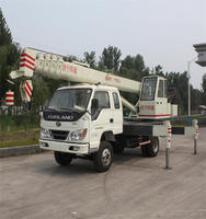 6 Ton Small Mobile Crane 6 ton hydraulic telescopic boom truck mounted crane cargo crane for sale