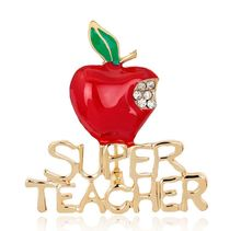 Paragraphs Christmas apple brooch super the teacher a brooch alloy brooch