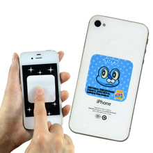 Hot selling sticky mobile cell phone screen cleaner logo