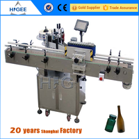 Automatic wrap round and red wine bottle labeling machine