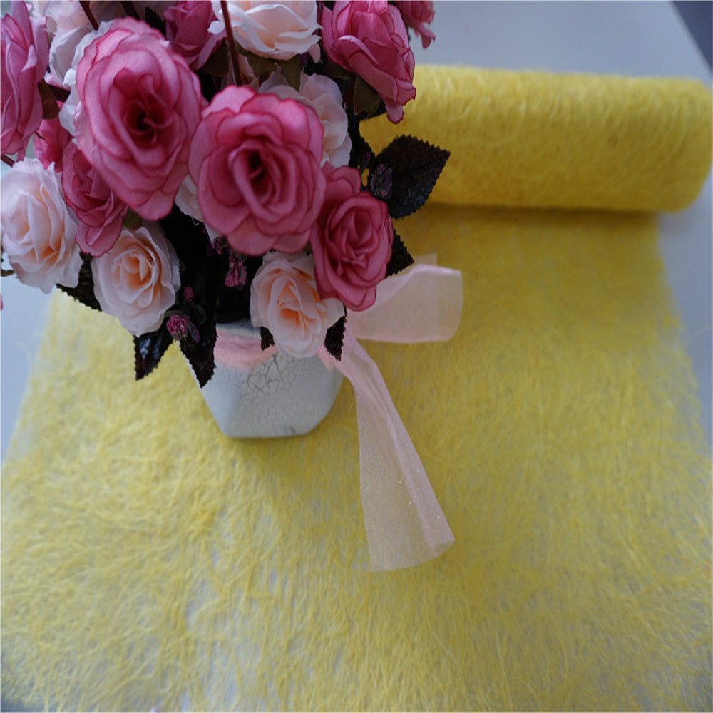 yellow natural sisal fiber flower wrapping