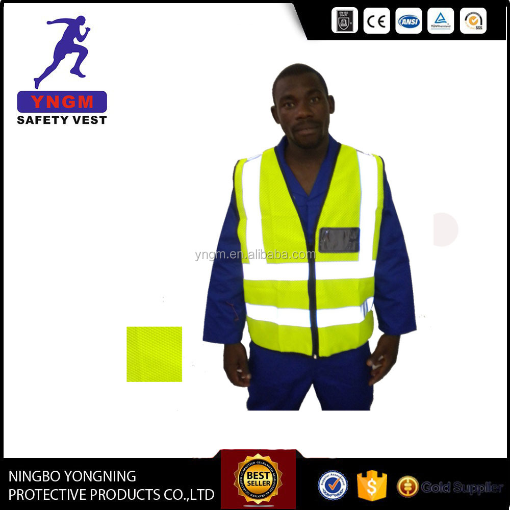 Different style 100% blue mesh safety vest adult reflective protective vest