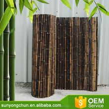 Natural folded bamboo fencing iron wire bamboo friendly fence for sale