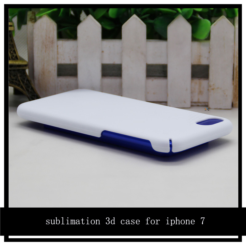 Full edge wrapped sublimation cover for apple iphone 7/7plus 3d case