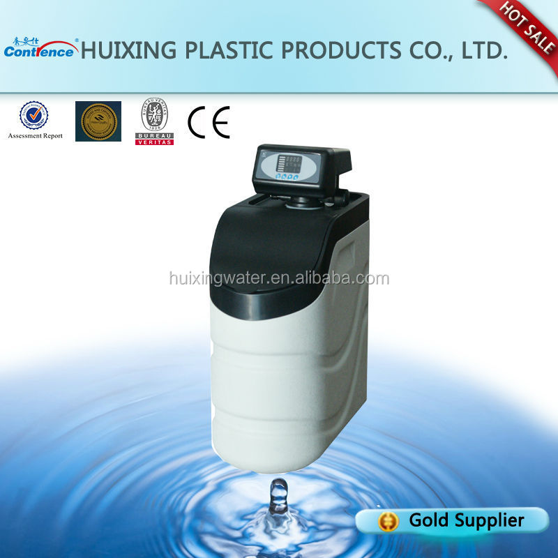 Domestic water softener system for bathroom