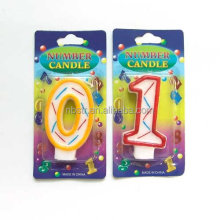 High quality Painting Number candles,number 0,1-9 gifts for party