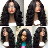 2016 Hot selling Grade 7A hair wigs super body wave /loose wave /100% Brazilian virgin human hair full lace wigs with bangs