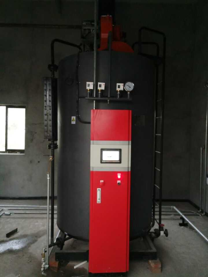 Vertical 1000kg Water Tube Three Pass Gas/Oil Steam Boiler For Steam Sterilization Machine and Corn Blanching Machine