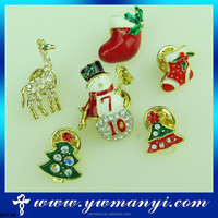 Wholesale Cute Pretty Vintage Brooches/Pin For Christmas Hat Shape Brooch Pins B0128