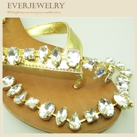 HOT!!!NEW!!!Wholesale Crystal Rhinestone shoe jewelry chains for flip flop