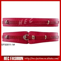 Newest Fashion Ladies Leather Look PU Belt,Chastity Belt With Tonal PU trim,SP30811