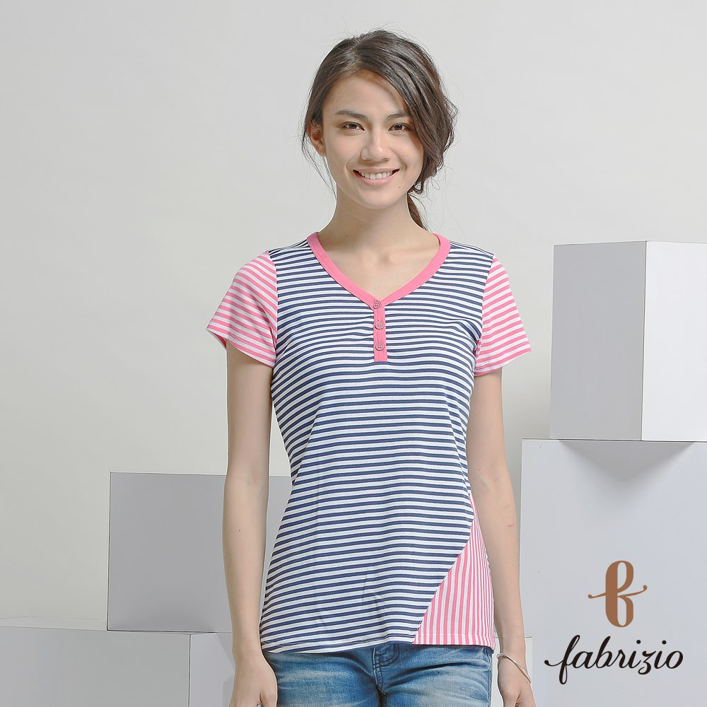 Hot Sale manufacturer Unique daily wear Colored Polyester swing hem styles stripes MIT Tshirt