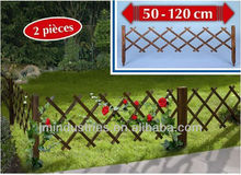 Set of 2 Flexible Wooden Garden Fence