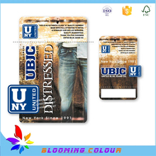 China wholesale custom jeans hang tags for woman