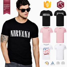 Guangzhou HONGXIONG clothing factory high quality 100% cotton 200g round collar short sleeve custom men's Printing T shirts