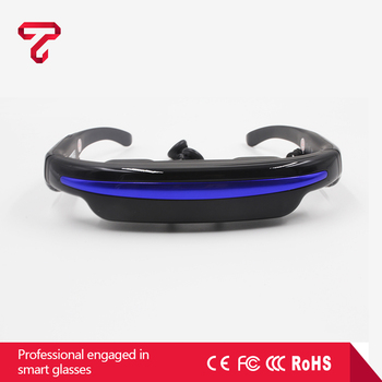Portable 52' virtual reality private theatre all in one vr glasses connect with drone fpv