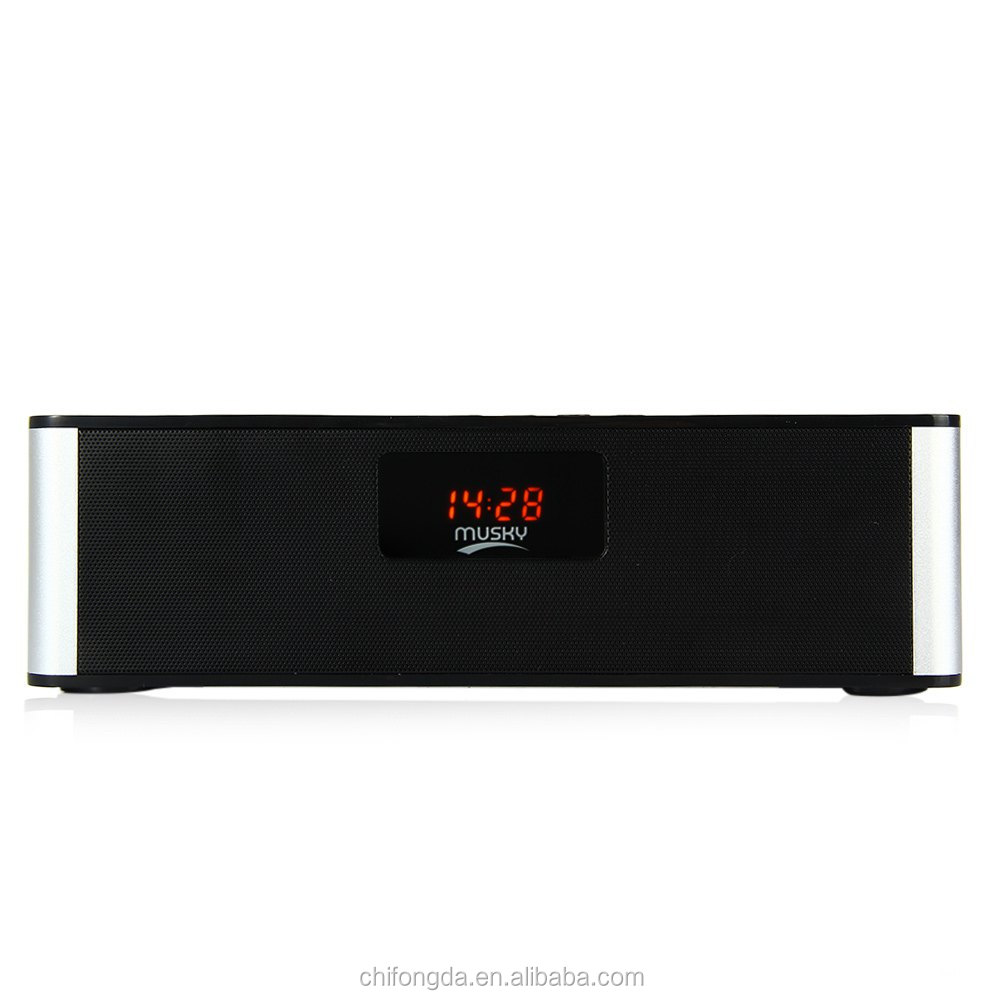 Original Portable Mini Speaker DY21L Hifi Stereo Sound Wireless MUSKY BT Speaker with LED Display Multimedia FM TF Card