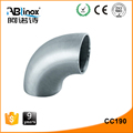 stainless steel 60 degree elbow pipe fitting with different dimensions