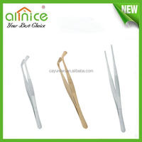 Chinese tea tools /stainless steel curved tweezer/medical grade tweezer with top quality material