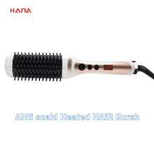 Electrical fast heat up LCD display straightening hair brush