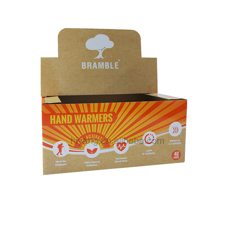 Good quality full color print hand warmers packing corrugated cardboard box
