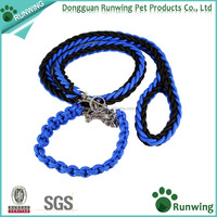 Dog Leash Collar Hand Crafted Bear Fruit for Medium and Large Dogs Medium Black Blue