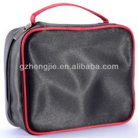 Large poly cosmetic bag with compartments