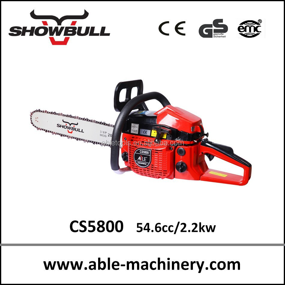 55cc 2.2kw hot sell 2-stroke chain saws cs5800