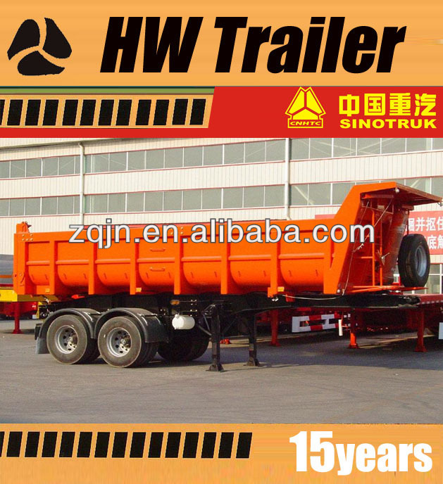 U Shape 2 Axle End Dumper Semi Trailer