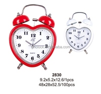 High quality birthday gift metal bell double table clock factory (2830/2830-1)