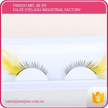 customed crazy special colorful feather fake eyelash on sale