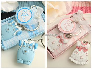 Adorable Onesie Key Chain Favor for baby gift and newborn baby shower favors