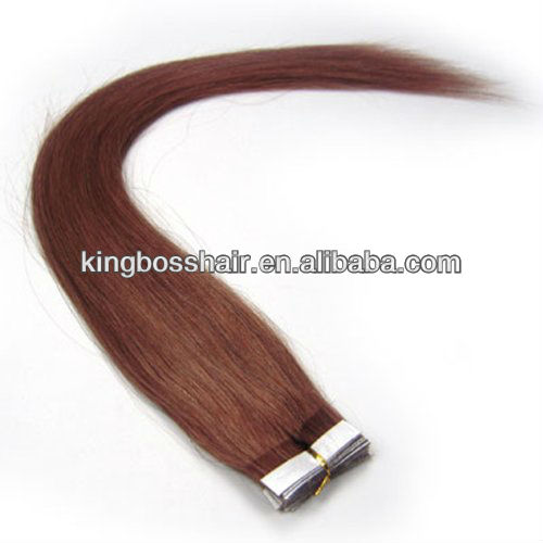 #33 Dark Auburn 40 Pieces 100g/set 8-30 inch Remy Tape Hair Human Hair Extensions Straight Women Beauty Salon Style Design