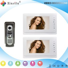 2016Hot sale xsl-V70F-M2 one outdoor unit with two indoor unit HD color video door phone