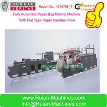 HAS VIDEO Paper Shopping Bag Machine With Handles Inline And Plastic Shopping Bag Machine
