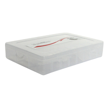 small plastic storage compartment box with lid
