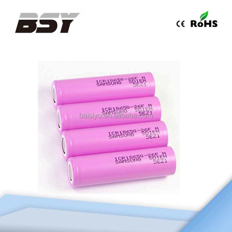 Hot Samsung 18650 26FM Li-ion Rechargeable Batteries 3.7V 2600mah For Electric Bike/ Car /UPS/Power Tools